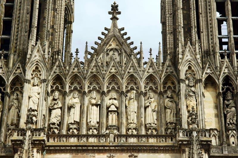 Kathedralen-Notre-Dame-De Reims lizenzfreies stockfoto