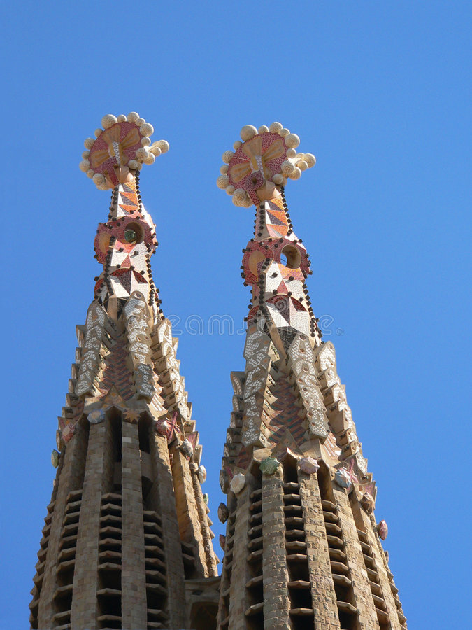 Kathedralen Sagrada-Familia in Barcelona lizenzfreie stockfotos