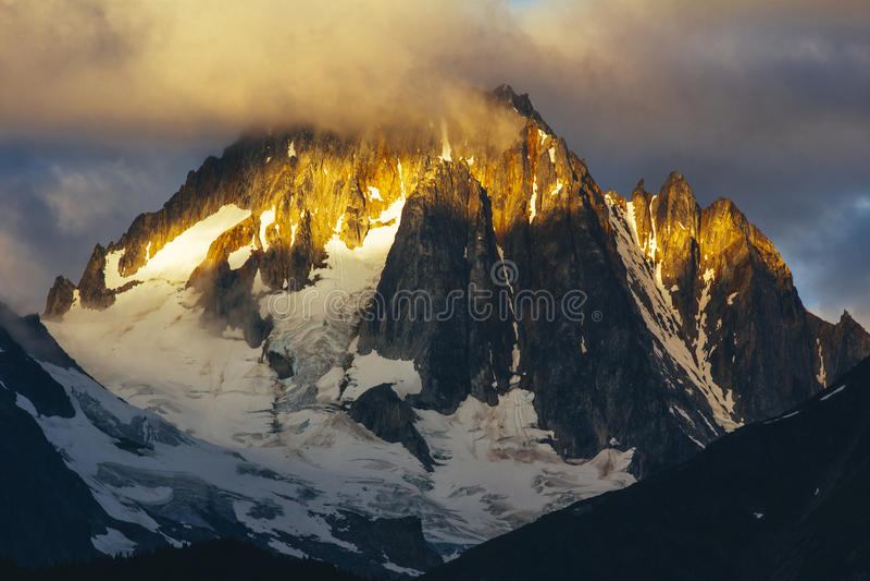 Kathedralen-Spitze, Haines Alaska stockfoto