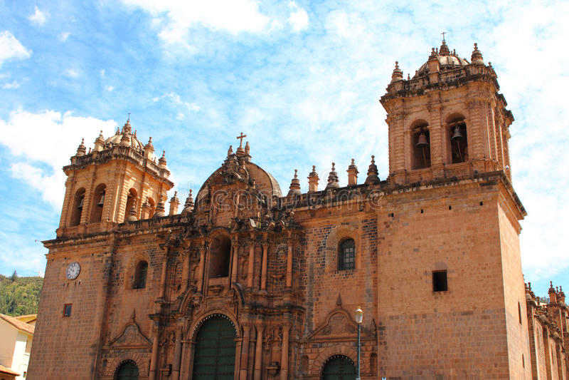 Kathedralenkirche an der Piazza de Armas Cuzco, Peru lizenzfreie stockbilder
