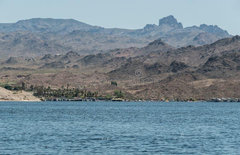 Katherine Landing Marina au Mohave de lac photo libre de droits