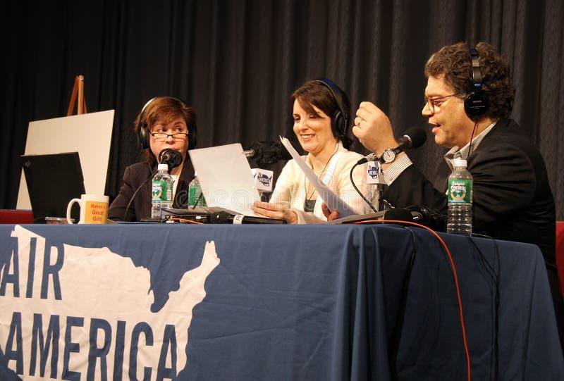 Katherine Lanpher, Tina Afektowany i Al Franken, obraz stock
