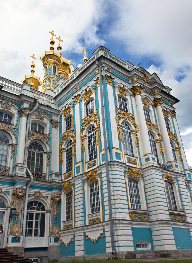 Katherine Palasthalle in Tsarskoe Selo (Pushkin), Russland lizenzfreies stockbild