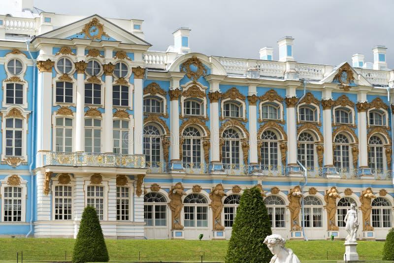 Katherine-` s Palasthalle in Tsarskoe Selo Pushkin, Russland stockfotografie