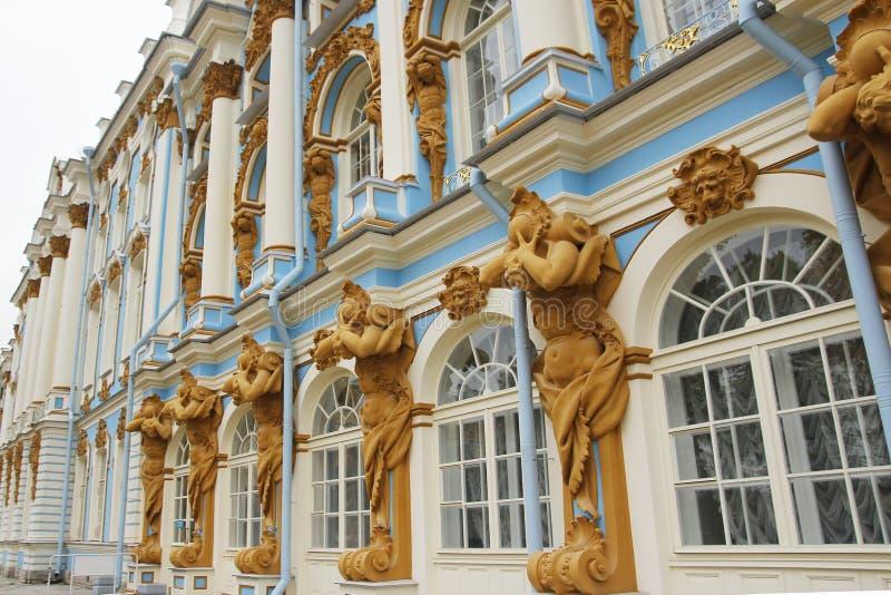 Katherine& x27; s-Palasthalle in Tsarskoe Selo u. x28; Pushkin& x29; , Russland stockfotografie