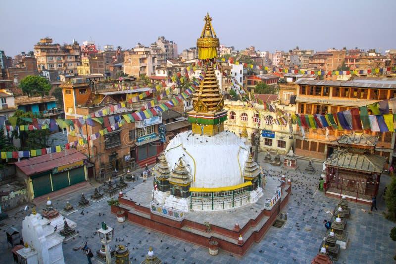 Kathesimbu Stupa a Kathmandu, Nepal fotografia stock libera da diritti