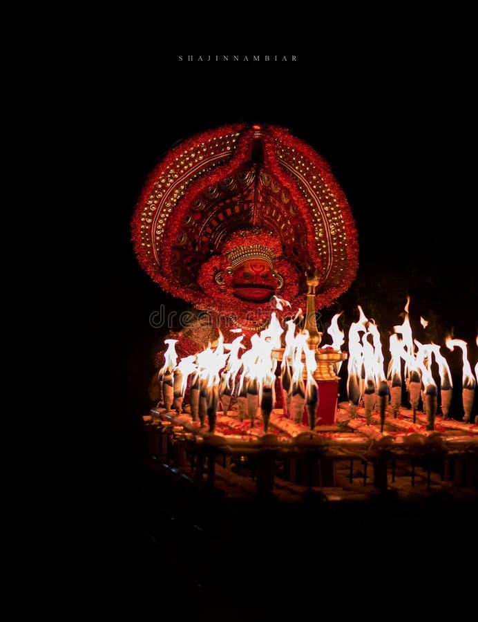 Kathivanoor-veeran theyyam stockfotografie