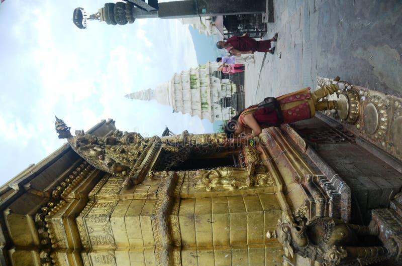 kathmandu święta świątynia Nepal fotografia royalty free