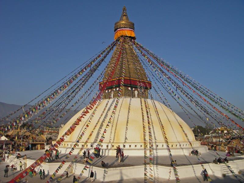 kathmandu buddyjska stupa Nepal zdjęcia royalty free