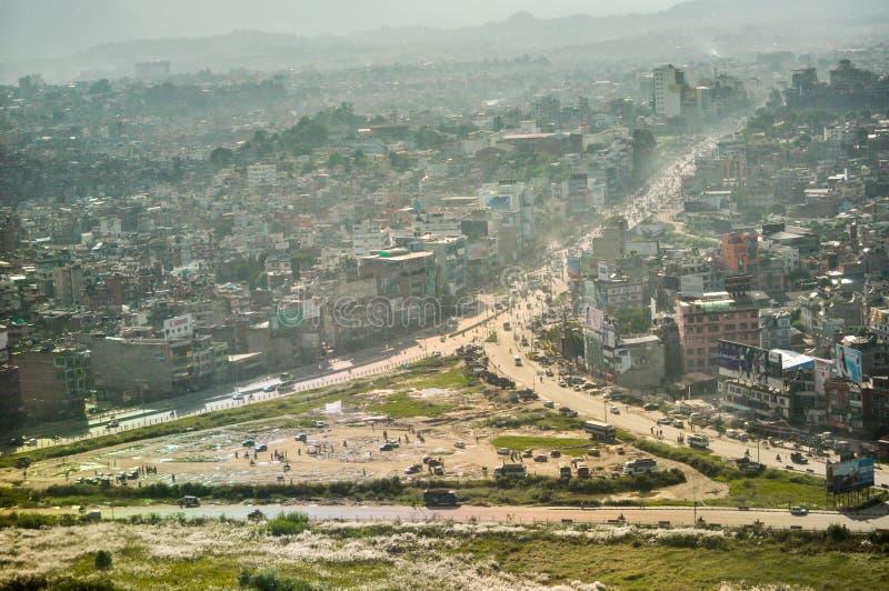Kathmandu dall'aria immagini stock