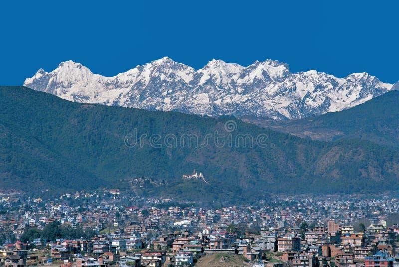 Kathmandu dolina Himal & Ganesh, Nepal zdjęcia royalty free