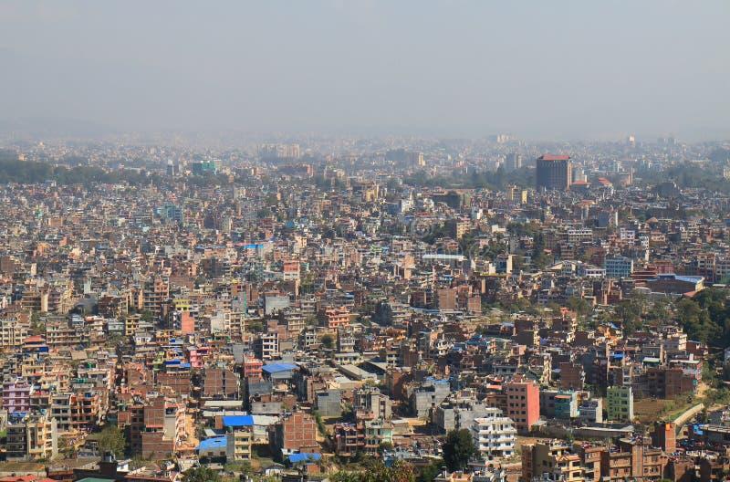 Kathmandu cityscape Nepal stock images