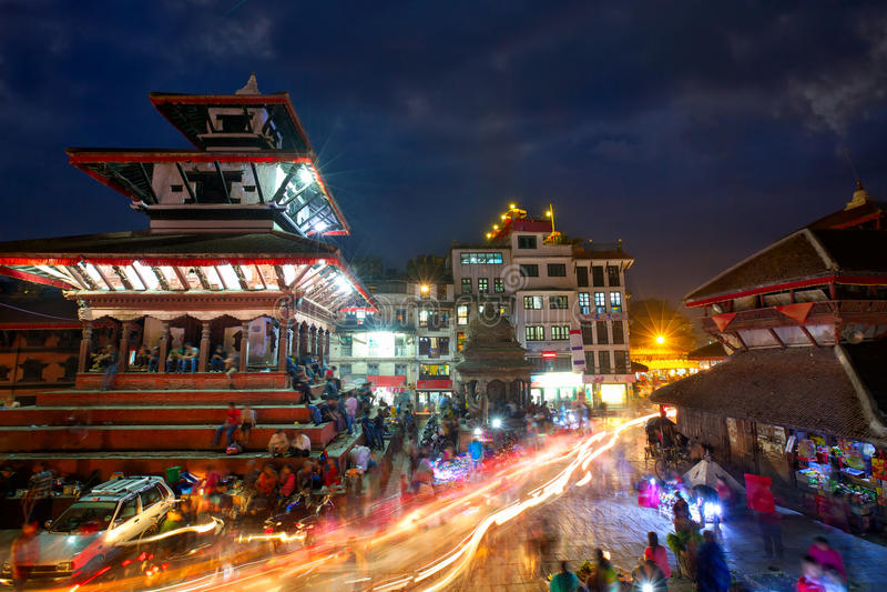 Kathmandu Durbar Sqaure. Durbar Sqaure in Kathmandu at night, Nepal royalty free stock image
