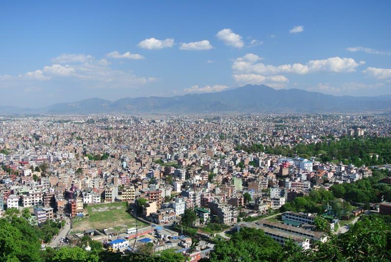 Kathmandu, Nepal. Endless housing stretches into the distance in Kathmandu, Nepal royalty free stock photo