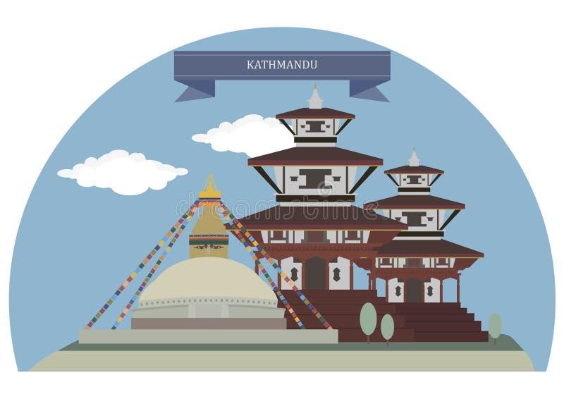 kathmandu Nepal ilustracja wektor
