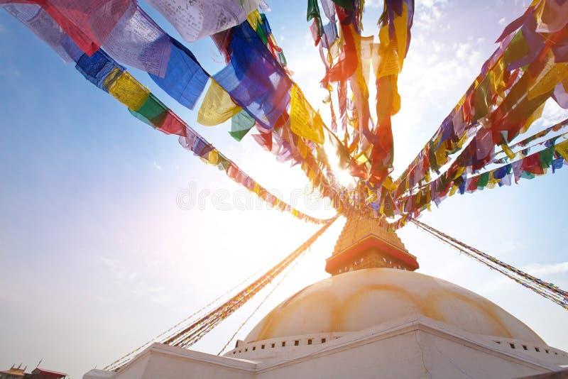 Kathmandu, Nepal. Boudhanath stupa in Kathmandu, Nepal royalty free stock photos