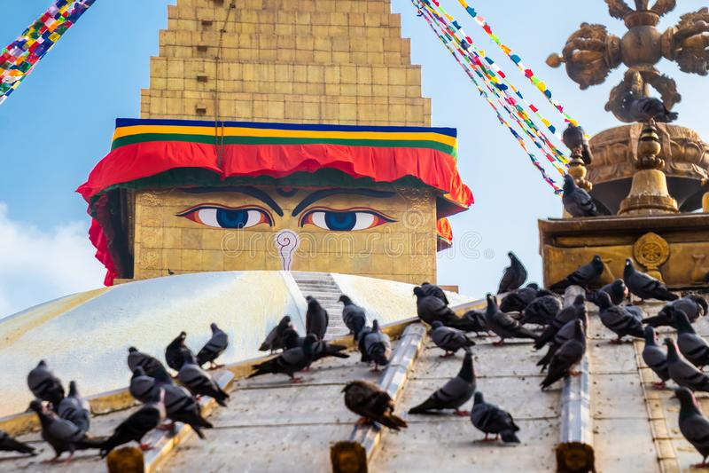 Kathmandu Nepal Boudhanath Stupa is one of the largest Buddhist stupas in the world. It is the center of Tibetan culture in. Kathmandu stock images