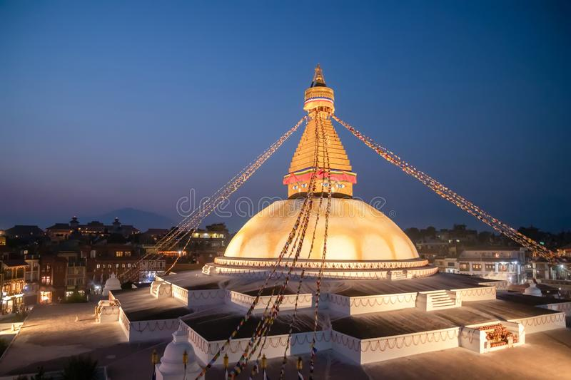 Kathmandu Nepal Boudhanath Stupa is one of the largest Buddhist stupas in the world. It is the center of Tibetan culture in. Kathmandu royalty free stock image