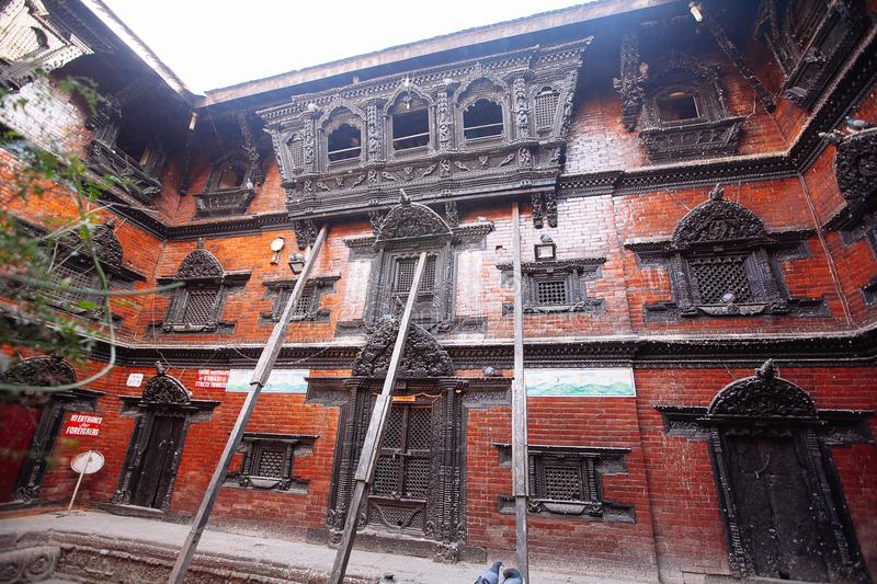 Kathmandu, Nepal - February 8, 2017: The Palace of the living go stock photo