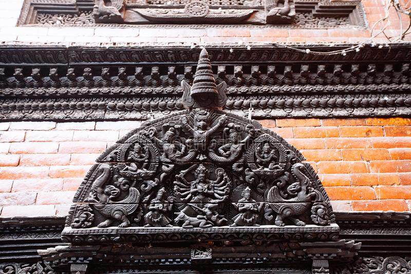 Kathmandu, Nepal - February 8, 2017: The Palace of the living goddess Royal Kumari stock photography