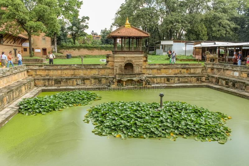 Kathmandu, Nepal - November 03, 2016: Bhandarkhal water tank, once the main supply of water for the palace, Patan Durbar Square royalty free stock images