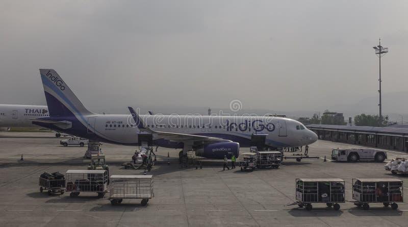 Tribhuvan Airport in Kathmandu, Nepal royalty free stock images