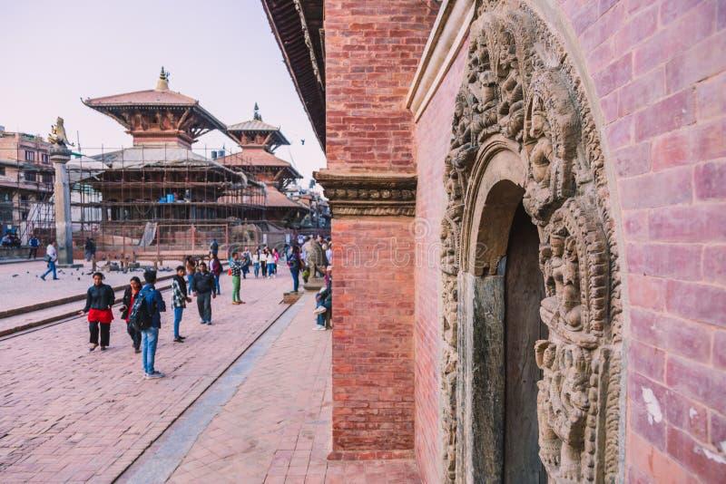 Kathmandu Nepal, Oct, - 26,2018: Patan świątynia, Patan Durbar kwadrat lokalizuje przy centre Lalitpur, Nepal Ja jest jeden obrazy royalty free