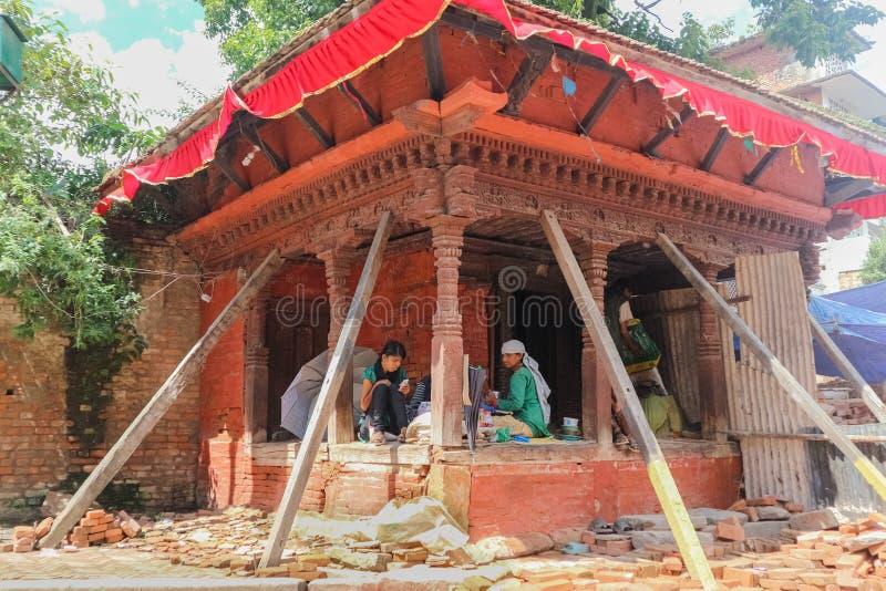 Kathmandu, Nepal - September 20, 2016: Local people near Durbar stock image
