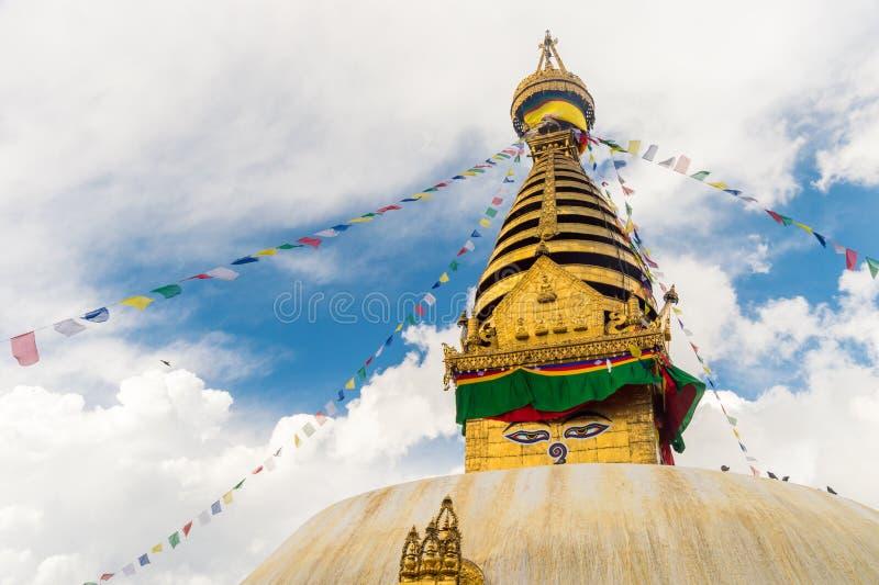kathmandu nepal stupa royaltyfri foto