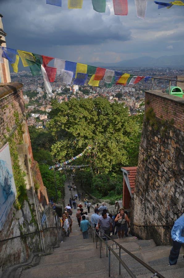 kathmandu Nepal swayambhunath świątynia zdjęcia royalty free
