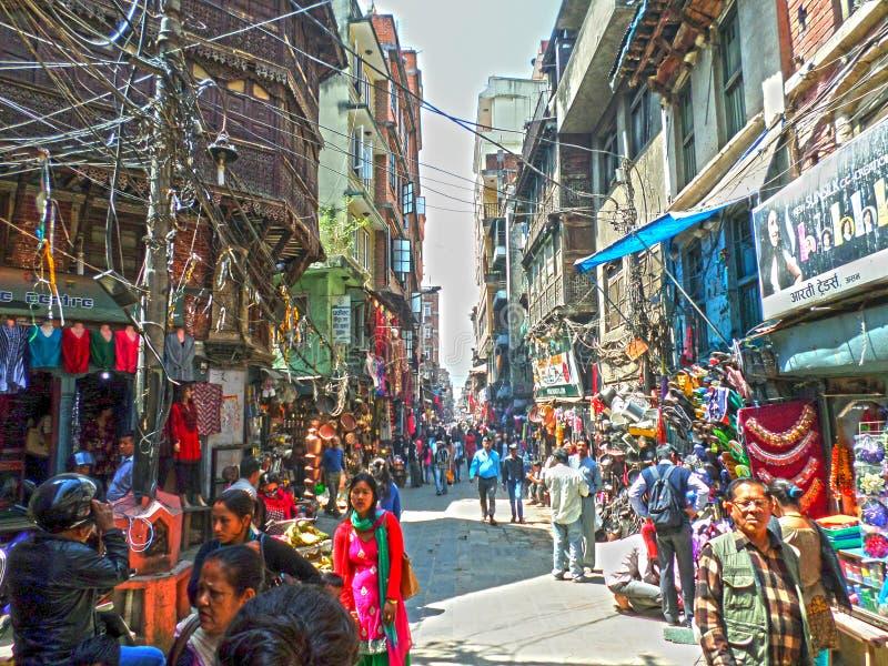 Kathmandu Street View stock photos