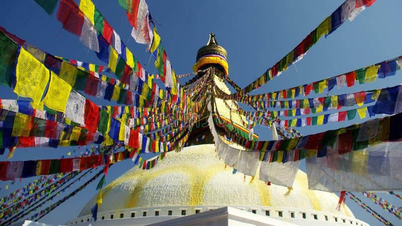Kathmandu. Stupa in the city of Kathmandu, Nepal stock photo