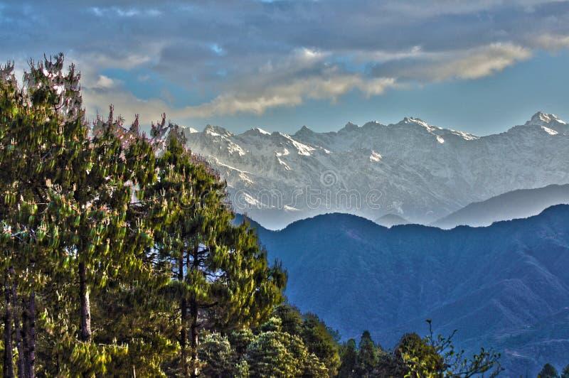 Kathmandu Valley. Early morning in the Kathmandu Valley stock image