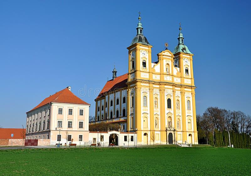 Katholiek klooster, het dorp van Kopie, Moravië, Tsjechische Republiek, Europa royalty-vrije stock foto's