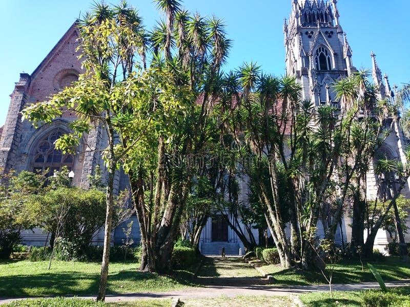 Katholieke churc - Petropolis - Brazilië stock foto's