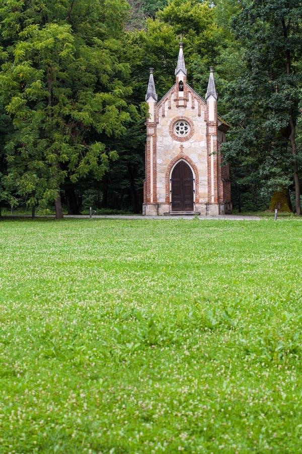 Katholieke kapel in Zapresic, Kroatië stock foto