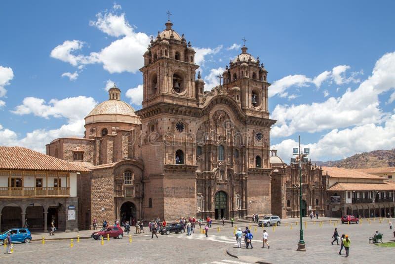 Katholieke Kerk in Cusco, Peru stock afbeelding