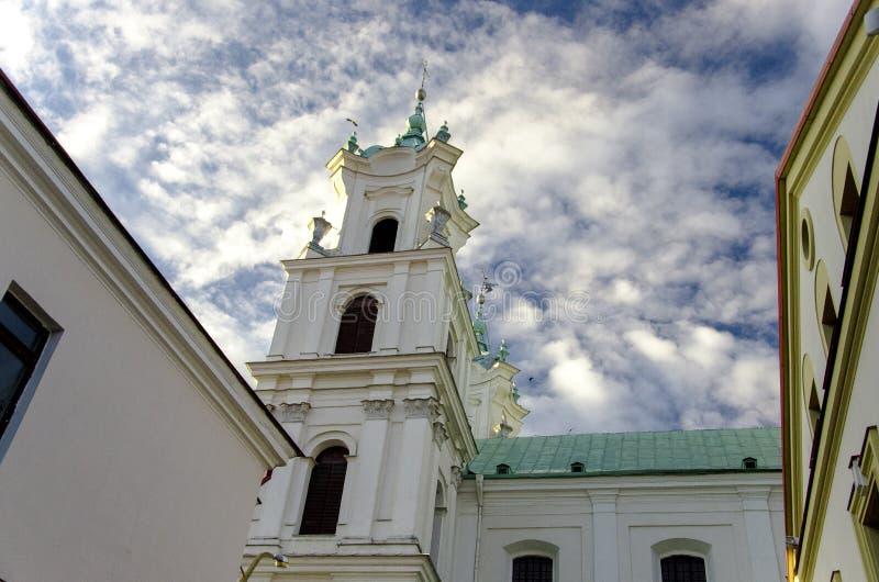 Katholieke kerk in de stad van Grodno royalty-vrije stock afbeelding