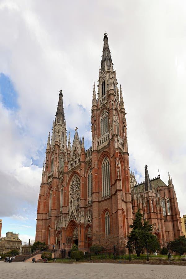 Katholieke kerk in de stad van La Plata royalty-vrije stock afbeelding