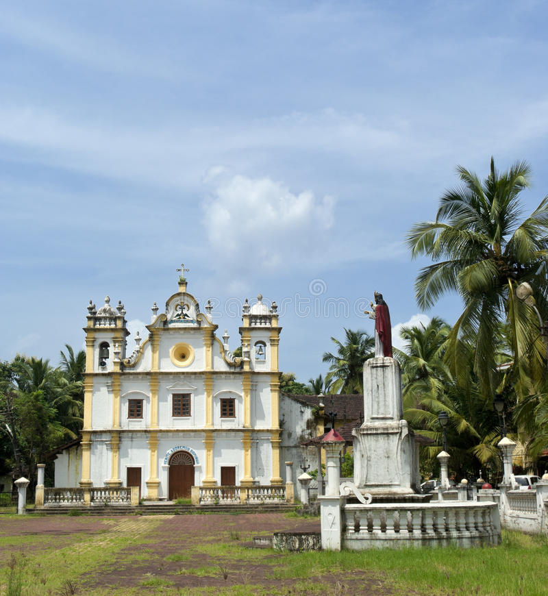 Katholieke kerk in Goa royalty-vrije stock fotografie