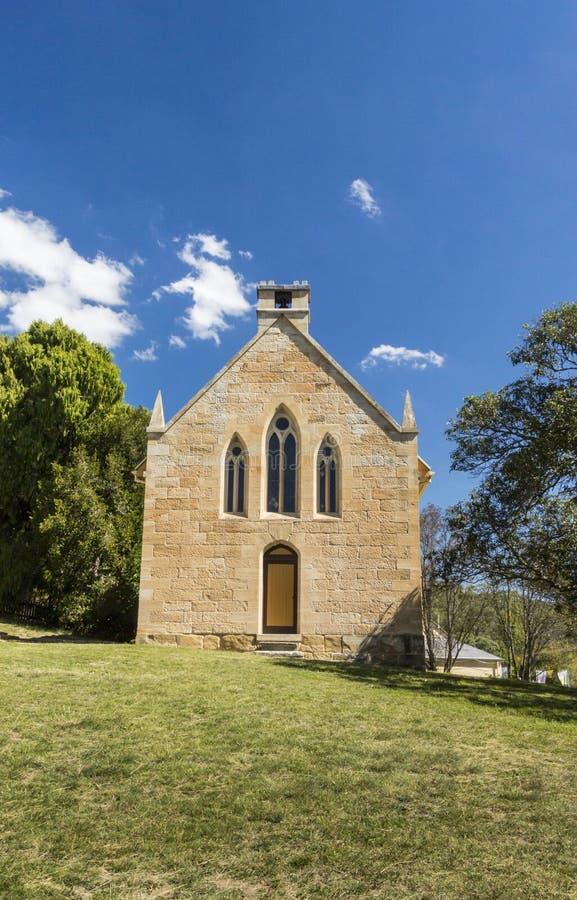 Katholieke Kerk in Hartley, Australië stock afbeelding