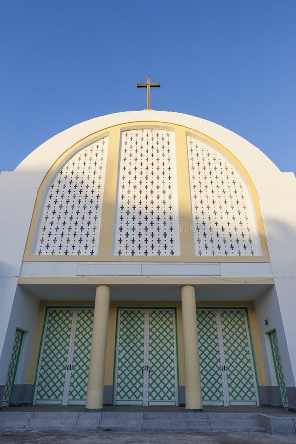 Katholieke Kerk in Laayoune stock foto