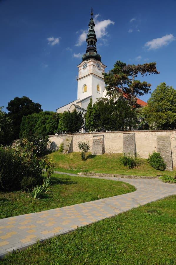 Katholieke kerk in mestonad Vahom van stadsNove royalty-vrije stock afbeeldingen