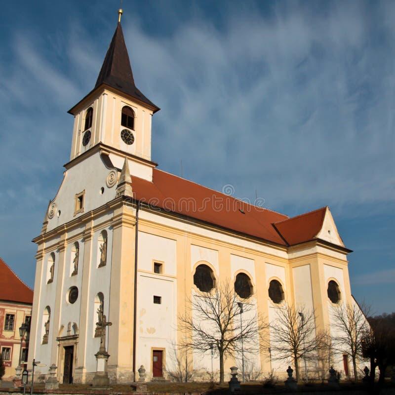 Katholieke kerk in Midden-Europa stock foto