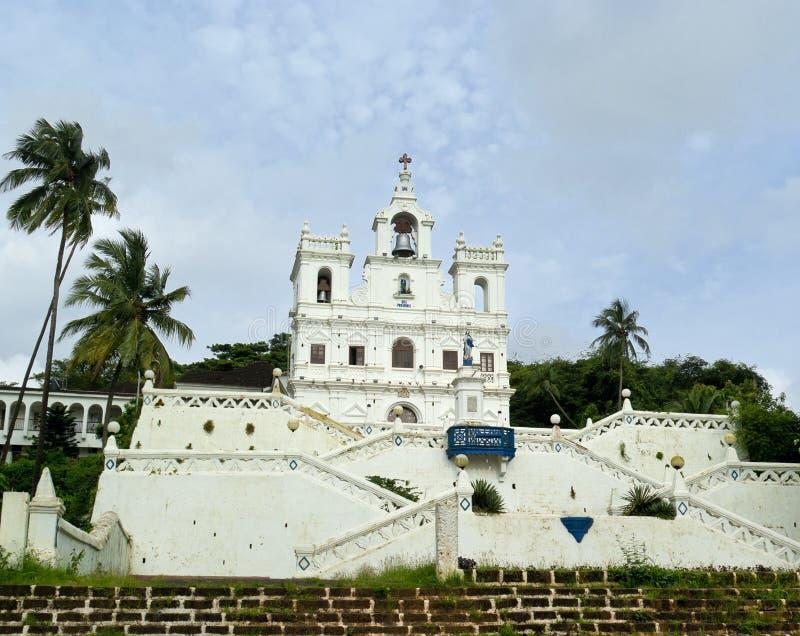 Katholieke kerk in Panjim. Goa royalty-vrije stock fotografie
