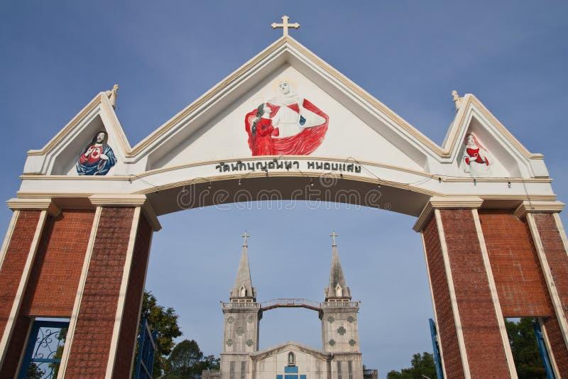 Katholieke kerk in Thailand royalty-vrije stock fotografie