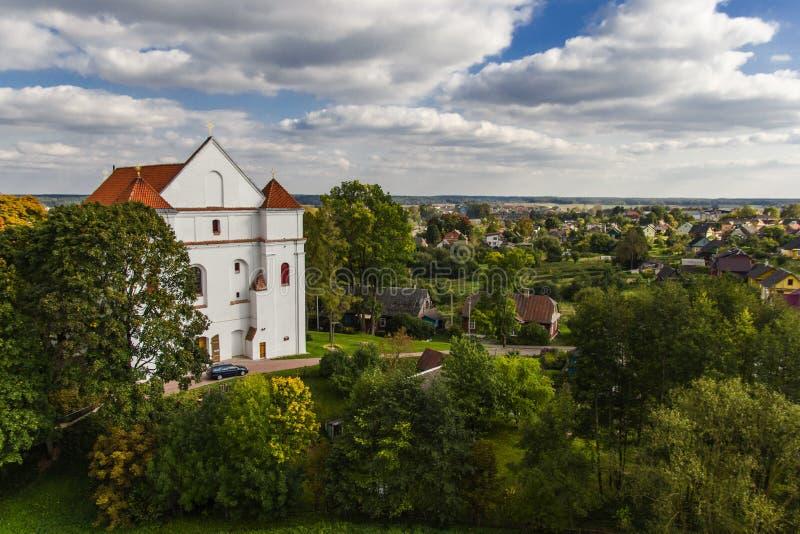 Katholieke Kerk van de Transfiguratie Novogrudok wit-rusland royalty-vrije stock afbeeldingen
