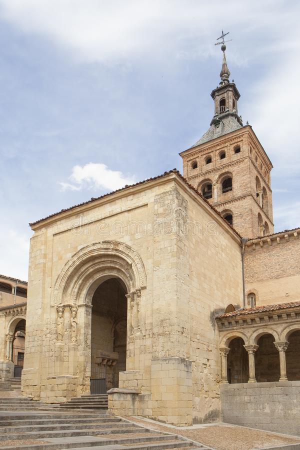 Katholieke kerk van San Martin in Segovia stock afbeeldingen