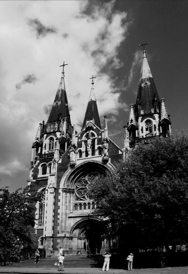 Katholieke kerk van St Elisabeth stock foto