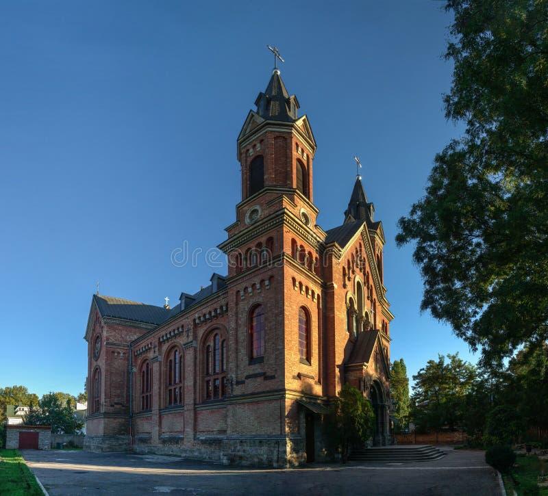 Katholieke kerk van St Joseph in Nikolaev, de Oekraïne stock afbeelding